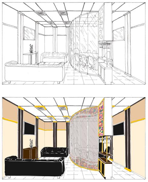 эскиз помещения: